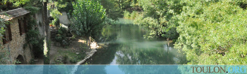 Photo Correns : Les bords de l'Argens.