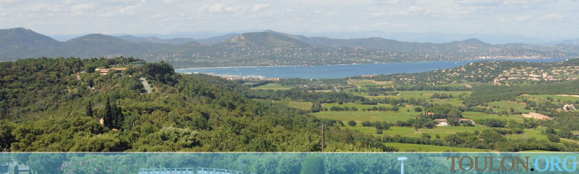 Photo Gassin : Vue du Golfe de Saint Tropez.
