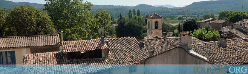 Photo Montfort sur Argens : Montfort et la vallée de l'Argens.