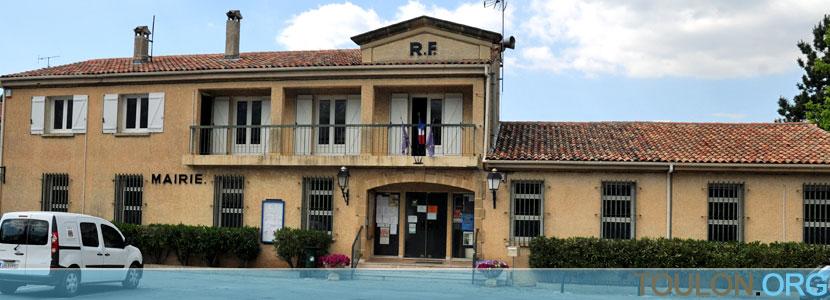 Photo Nans les Pins : La mairie, avenue Julien Jourdan