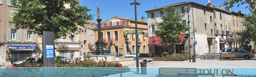 Photo Vidauban : La place Georges Clemenceau.